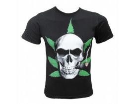 Tricou negru pentru barbati Craniu