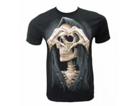 Tricou negru pentru barbati Skull