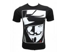Tricou negru,barbati,Anonymous
