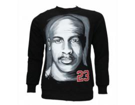 Bluza barbat,neagra, imprimeu mare MJ23