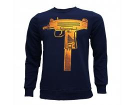 Bluza barbati,bluemarine ,print pistol mitraliera micro uzi