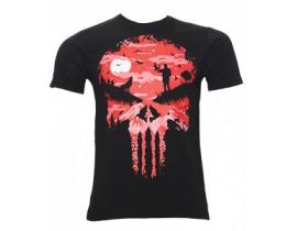 Tricou barbati,negru rosu,Punisher