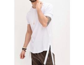 Tricou asimetric pentru barbati alb