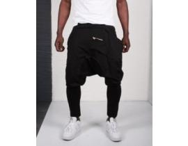 Pantaloni cu tur lasat si fermoare pentru barbati