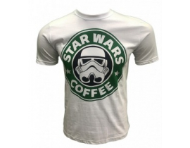 Tricou Star Wars Coffee. Alb