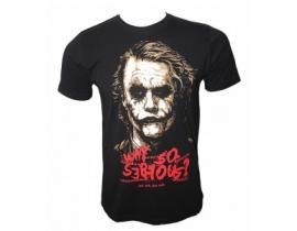 Tricou negru,Joker why so seryous