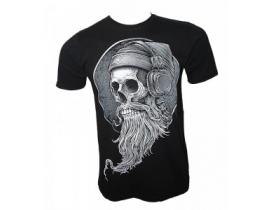 Tricou barbati,negru,Skull punk beard