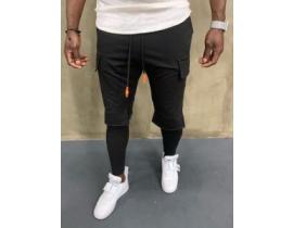 Pantaloni Urbancollection cu buzunare aplicate