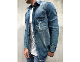 Cămașă  denim Regular Fit cu rupturi