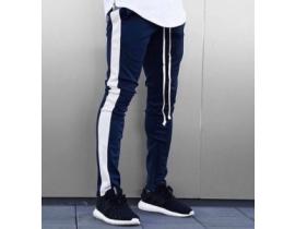 Pantaloni barbati de trening cu dunga alba