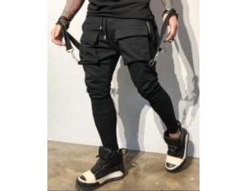 Pantaloni barbati cu tur lasat si bretele