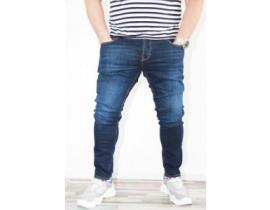 Blugi pentru barbati,slim fit,bluemarine,model simplu plus size