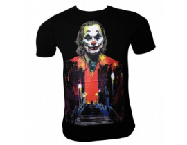 Urban-Tricou Joker negru rosu