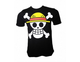 Tricou One piece skull negru