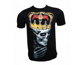 Tricou negru barbati, King Skull