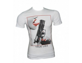 Tricou barbatesc alb True Lies