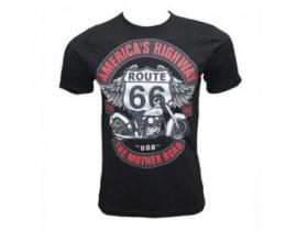 Tricou barbati Motociclist 66 Route America s high way