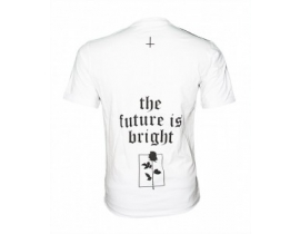Tricou alb barbati mesaj,The future is bright