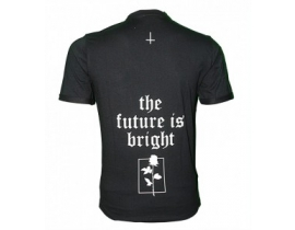 Tricou negru barbati mesaj,The future is bright