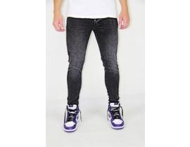 Urban jeans,Blugi slim fit cu aspect decolorat negru