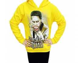 Hanorac copii Suicide Squad galben
