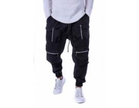 Pantaloni gen vagabond cu fermoare model ITL 99215