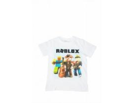 Tricou copii Echipa Roblox  alb