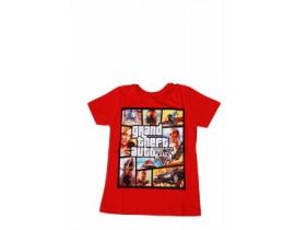 Tricou copii GTA rosu