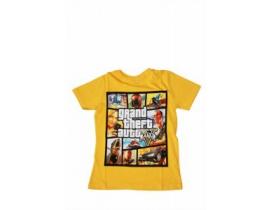 Tricou copii GTA galben