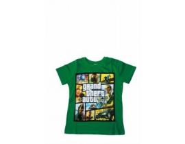 Tricou copii GTA verde