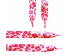 Sireturi imprimate alb-roz