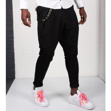 Pantaloni negri cu tur pentru barbati