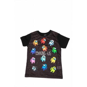 Tricou copii AMONG US  3D negru